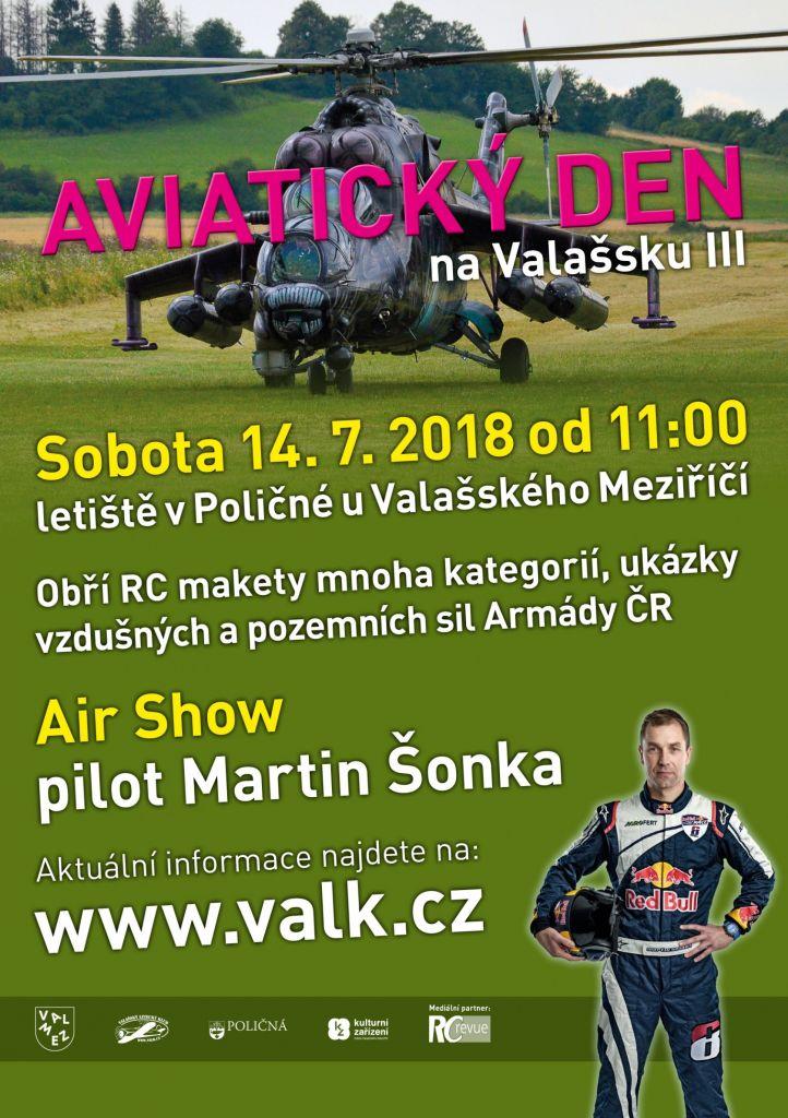 Pozvánka na aviatický den - Poličná
