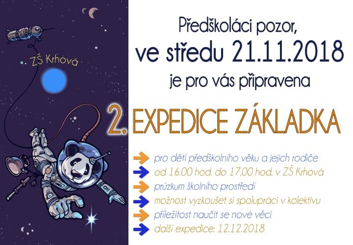 Pozvánka pro předškoláky a rodiče, 2. expedice základka